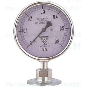 第一計器製作所 サニタリー圧力計(ヘルール)A 1.5S 75 圧力スパン2MPa 品番:PSF153002