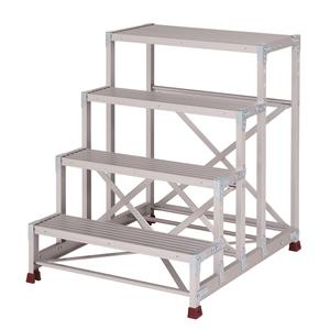 YAMAZEN(山善) 組立式 アルミ作業台 四段タイプ YPS-4-80100