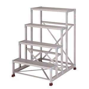 YAMAZEN(山善) 組立式 アルミ作業台 四段タイプ YPS-4-80120