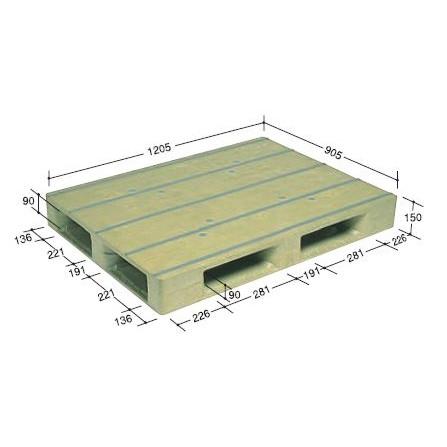 日本プラパレット お得 高級品 パレット PFD-1209E ライトグリーン 個人宅配送不可