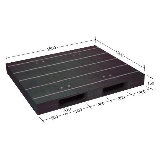 日本プラパレット パレット ZD-1315E-RR ブラック [個人宅配送不可]