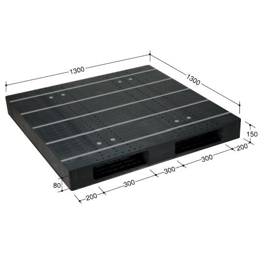 日本プラパレット パレット ZR-1313E-RR ブラック [個人宅配送不可]