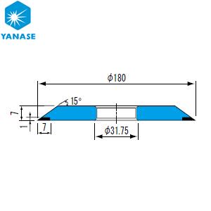 柳瀬(ヤナセ) CBNホイール ワシノ型 砥材表示:CBN325-100M(メタル) B-021 『1個価格』
