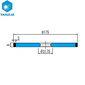 クラシック 柳瀬(ヤナセ) CBNホイール ストレート型 砥材表示:CBN170-75B B-031 『1個価格』:セミプロDIY店ファースト-DIY・工具