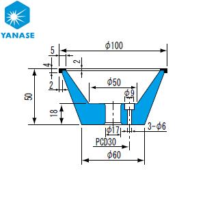 柳瀬(ヤナセ) ダイヤモンドホイール 飯田型 砥材表示:SDC200-75B D-005 『1個価格』