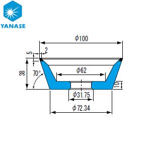 柳瀬(ヤナセ) ダイヤモンドホイール 牧野型 砥材表示:SDC200-75B D-023 『1個価格』