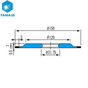 柳瀬(ヤナセ) ダイヤモンドホイール ワシノ型 砥材表示:SDC270-125B D-036 『1個価格』