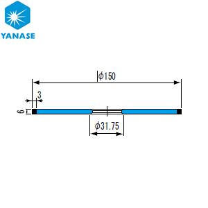 柳瀬(ヤナセ) ダイヤモンドホイール ストレート型 砥材表示:SDC200-100B D-050 『1個価格』