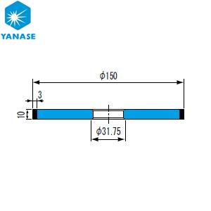 柳瀬(ヤナセ) ダイヤモンドホイール ストレート型 砥材表示:SDC600-75B D-052 『1個価格』