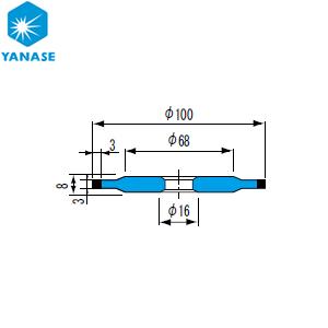 柳瀬(ヤナセ) ダイヤモンドホイール ボス付ストレート型 砥材表示:SDC600-75B D-060 『1個価格』