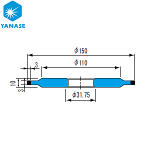 柳瀬(ヤナセ) ダイヤモンドホイール ボス付ストレート型 砥材表示:SDC600-75B D-063 『1個価格』