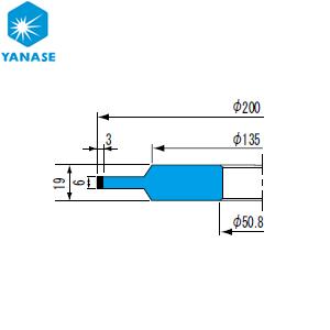 柳瀬(ヤナセ) ダイヤモンドホイール ボス付ストレート型 砥材表示:SDC200-100B D-068 『1個価格』
