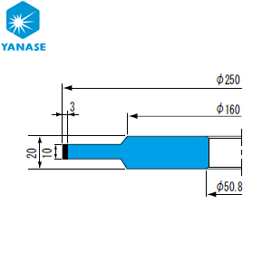 柳瀬(ヤナセ) ダイヤモンドホイール ボス付ストレート型 砥材表示:SDC200-75B D-071 『1個価格』