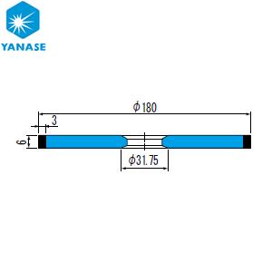 柳瀬(ヤナセ) CBNホイール ストレート型 砥材表示:CBN140V V-001 『1個価格』