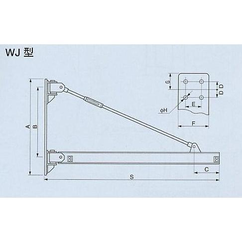 誠実 象印 ウォール型ジブクレーン WJ-00550 [送料別途お見積り]:セミプロDIY店ファースト-DIY・工具