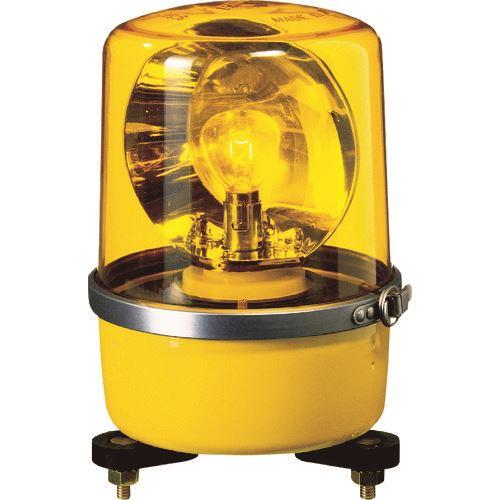 ■パトライト SKP-A型 中型回転灯 Φ138 色:黄  〔品番:SKP-102A-Y〕[TR-1006851]