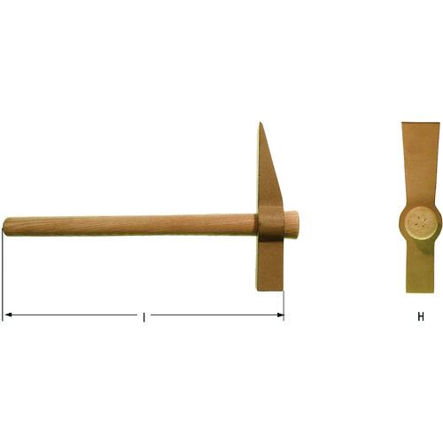 ■AMPCOスイス 防爆煉瓦ハンマー  〔品番:FN0600B〕[TR-1026475]