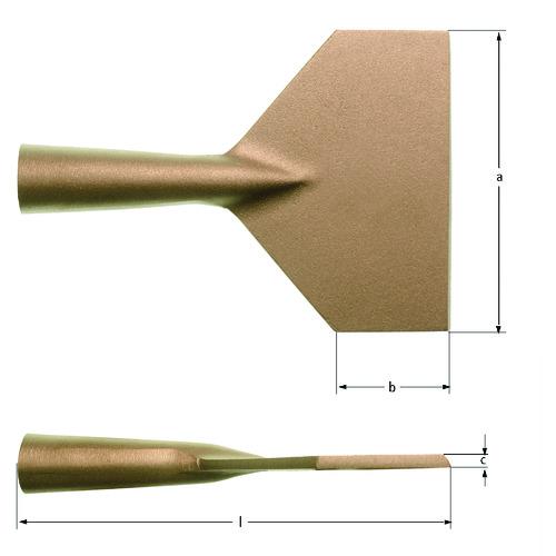 ■Ampco 防爆スクレーパー柄なし 125mm〔品番:JG0125B〕[TR-1026487]