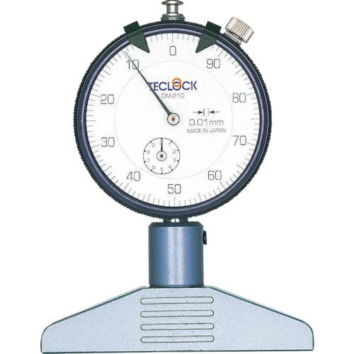 ■テクロック ダイヤルデプスゲージ 測定範囲0~10MM〔品番:DM-210〕[TR-1028669]