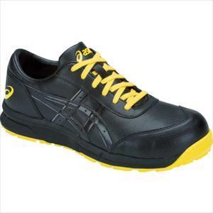 ■アシックス 静電気帯電防止靴 ウィンジョブCP30E ブラック×ブラック 25.0CM  〔品番:1271A003.001-25.0〕[TR-1036639]