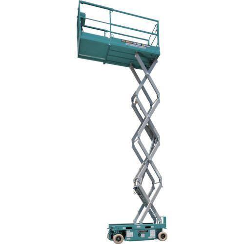 ■デンヨー シザースリンク型垂直昇降  〔品番:HW-580X〕[TR-1041198]【大型・重量物・個人宅配送不可】