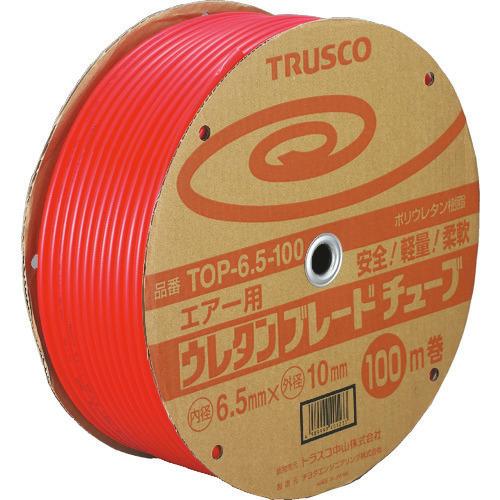 ■TRUSCO ウレタンブレードチューブ 6.5X10 100M 赤  〔品番:TOP-6.5-100〕[TR-1043170]