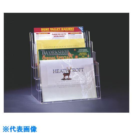 ■プリコ カタログスタンド 卓上用 A4横×4段 4個入 〔品番:4C330〕[TR-1058132×4]