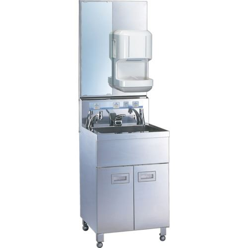 ■三共 1人用手洗い装置ドライヤー付〔品番:HWS-1-D〕[TR-1059831][送料別途見積り][法人・事業所限定][外直送]