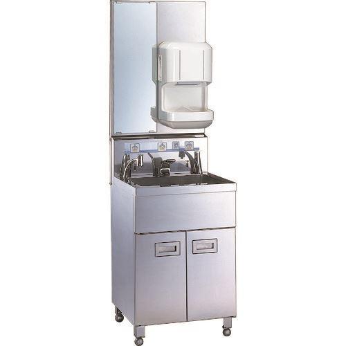 ■三共 1人用手洗い装置 200V給湯器・ドライヤー付〔品番:HWS-1-H201-D〕[TR-1059834][送料別途見積り][法人・事業所限定][外直送]