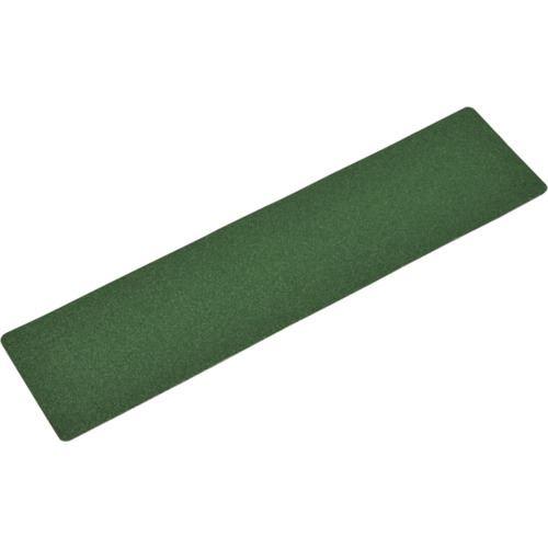 ■緑十字 滑り止め粘着シート 緑 150×610mm 5枚組 アルミ 屋内外兼用〔品番:260020〕[TR-1066199]