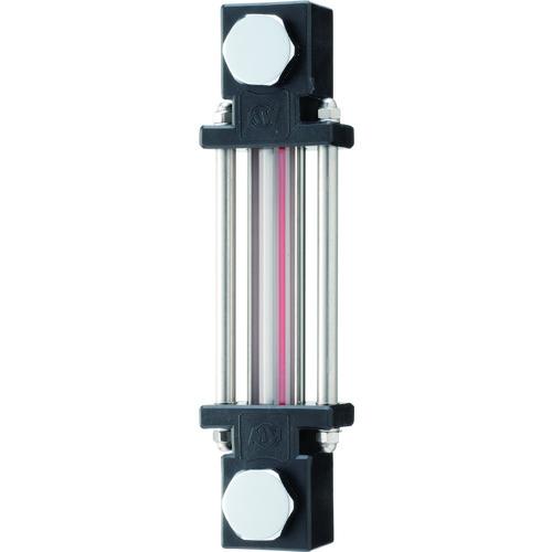 ■協和 耐熱・耐薬品用ガラスパイプ式オイルゲージ〔品番:KLPD-200G-M10〕[TR-1070856]