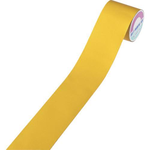 ■緑十字 粗面用反射テープ 黄 100MM幅×10M アルミ製  〔品番:319011〕[TR-1072562]