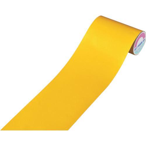 ■緑十字 粗面用反射テープ 黄 200mm幅×10m アルミ製〔品番:319031〕[TR-1076794]