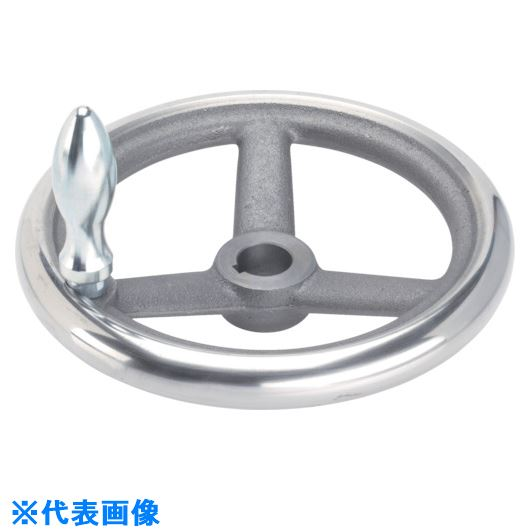 ■HALDER スポークハンドル DIN950 鋳鉄製 キー溝付 N-F G型  〔品番:24580.0520〕[TR-1079567]