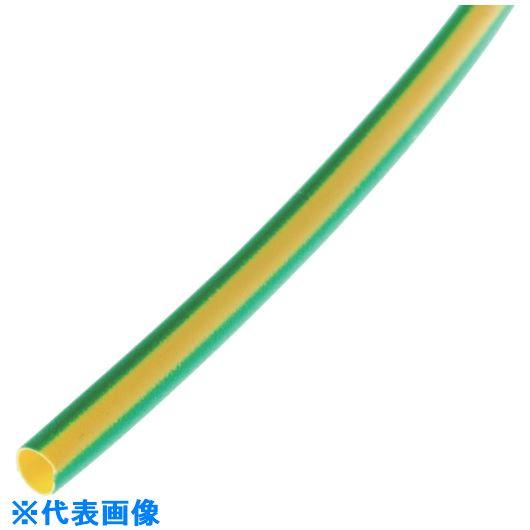 ■パンドウイット 熱収縮チューブ 標準長尺タイプ イエロー/グリーン 61M巻  〔品番:HSTT75-T45〕[TR-1083180]