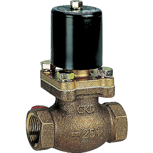 ■CKD 水用パイロットキック式2ポート電磁弁 100V〔品番:PKW-10-27-AC100V〕[TR-1103695]