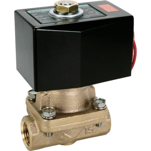 ■CKD パイロットキック式2ポート電磁弁(マルチレックスバルブ)105[[MM2]]/有効断面積〔品番:APK11-15A-C4A-AC100V〕[TR-1103911]