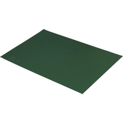 ■DESCO 静電気拡散性2層ビニールシート 緑 600MMX900MM〔品番:66174〕[TR-1112727]【個人宅配送不可】