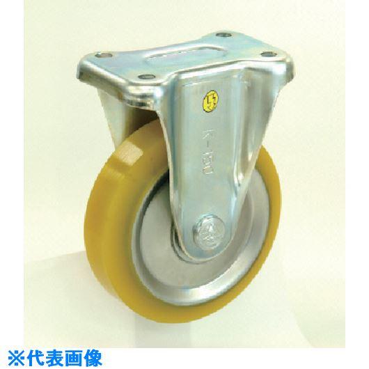 ■シシク 静電気帯電防止キャスター 200径 固定ストッパー付 制電性ウレタン車輪  〔品番:EUWKB-200〕[TR-1129372]