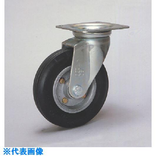 ■シシク セミニューマチック車輪付キャスター 自在 200径〔品番:SPMJ-200〕[TR-1129384]