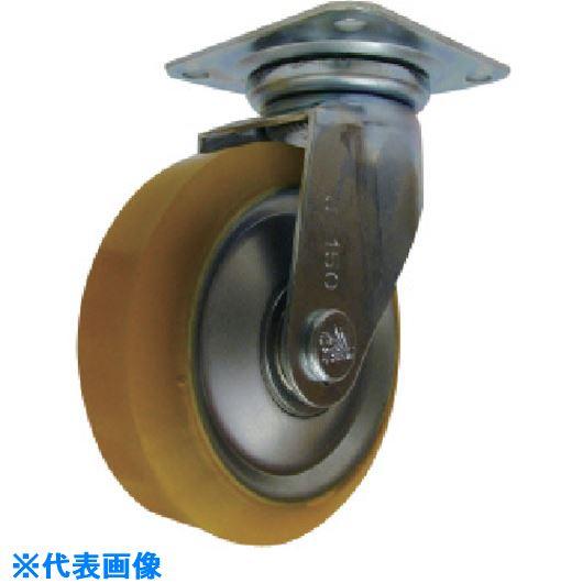 ■シシク 静電気帯電防止キャスター 200径 自在 ウレタン車輪  〔品番:EUWJ-200〕[TR-1129405]