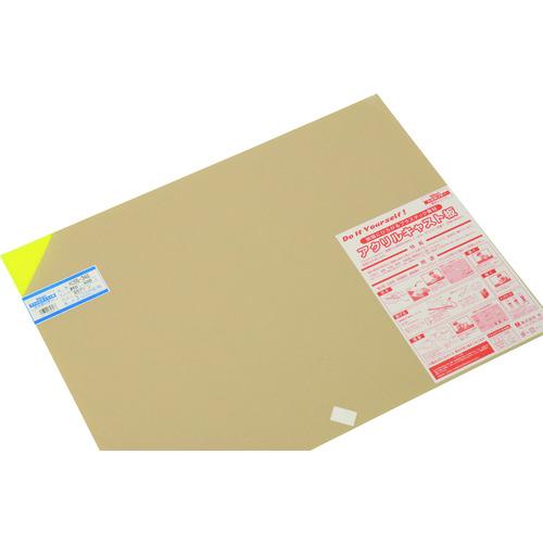 ■光 アクリルキャスト板 450X600 3T 蛍光グリーン 5枚入 〔品番:AC65-346〕[TR-1131140×5]