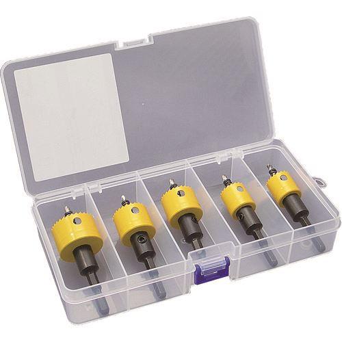 ■デンサン 充電バイメタルホールソー(薄刃タイプ) セット  〔品番:JHU-2133〕[TR-1132029]