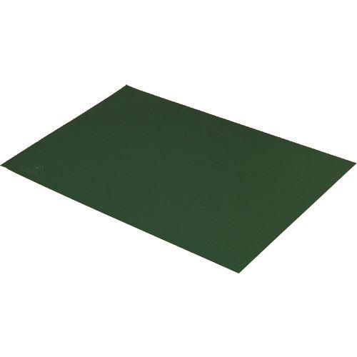 ■DESCO 静電気拡散性2層ラバーシート 緑 900X1500mm〔品番:880010〕[TR-1133350]【送料別途お見積り】