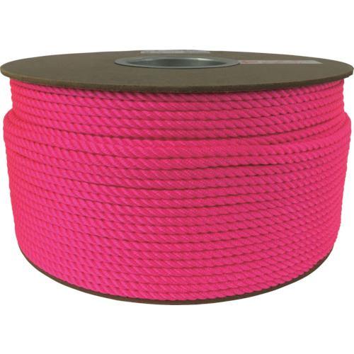 ■ユタカメイク ロープ パイレンカラードラム巻 5Φ×1m ピンク《200m入》〔品番:RB99〕[TR-1135477]