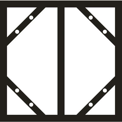 ■緑十字 スライドアングル(消防・危険物標識用フレーム) 600×300縦型2連用 スチール製〔品番:053200〕[TR-1135862]