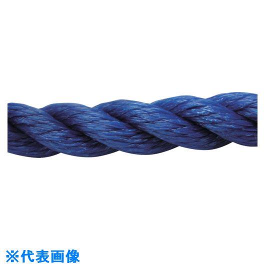 ■ユタカメイク ロープ PEロープ巻物 12Φ×200m ブルー〔品番:PE-62〕[TR-1137058]
