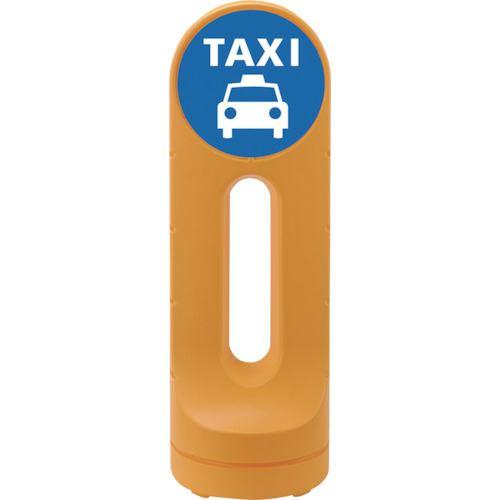 ■緑十字 サインスタンドRSS タクシー乗り場/イエロー 1250×425 片面表示 PE  〔品番:398216〕[TR-1137969]【大型・重量物・個人宅配送不可】