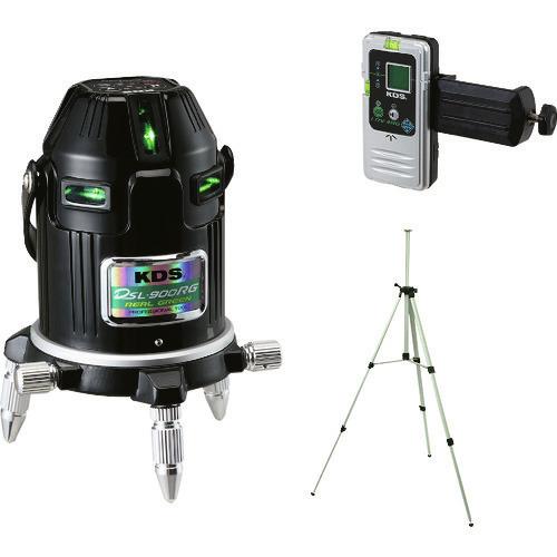 ■KDS 電子整準リアルグリーンレーザー900RG受光器三脚付  〔品番:DSL-900RGRSA〕[TR-1141681]