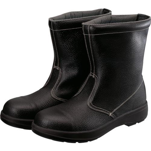 ■シモン 2層ウレタン底安全半長靴 25.5CM ブラック  〔品番:AW44BK-25.5〕[TR-1141851]